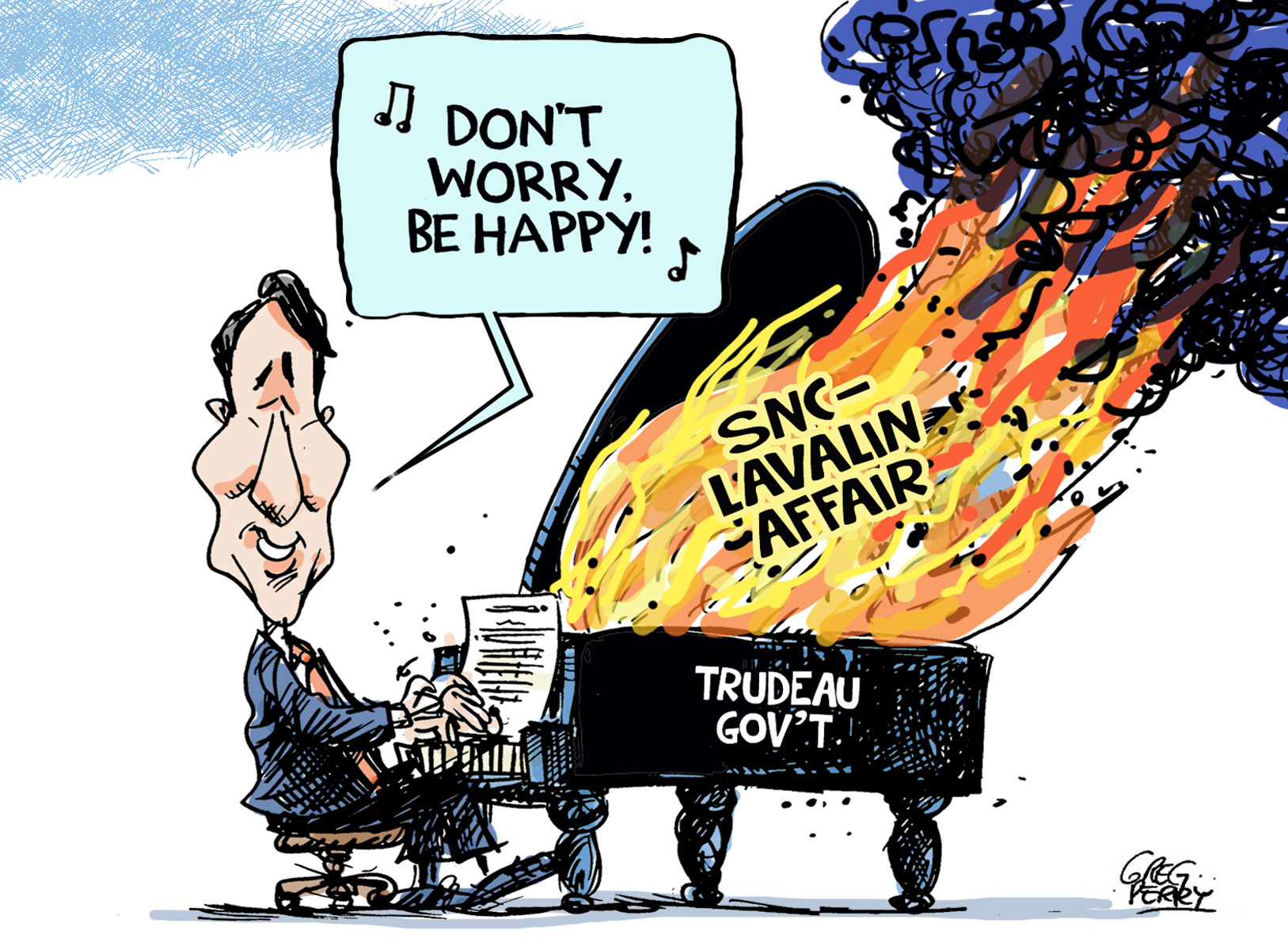 Trudeau LavScam cartoon