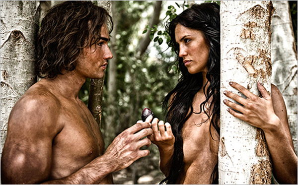 Adam and Eve in 'The Bible' show