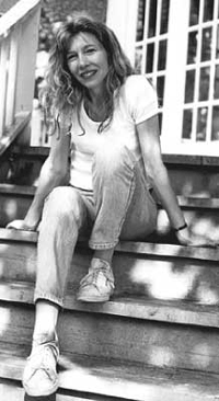 Linda McQuaig sitting