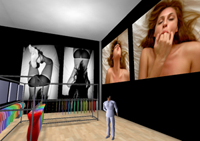 American Apparel ad in Second Life