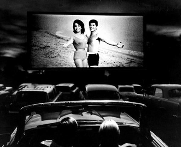 Drive-in theatre-goers