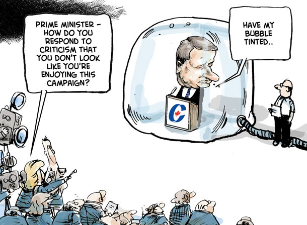 Cartoon about the 2011 federal election