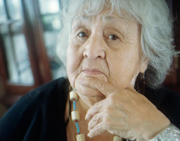 Haida speaker Mary Swanson