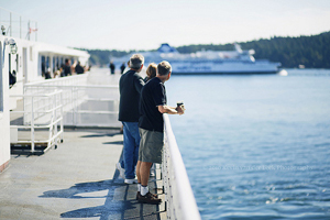 BC ferry passengers