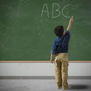 ABC on the blackboard