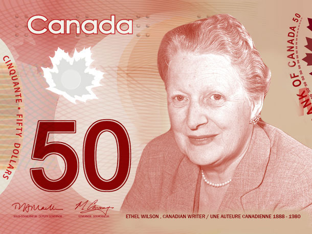 Ethel Wilson on the 50-dollar bill