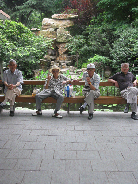 Old men in a park in Shanghai