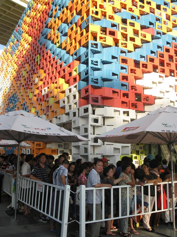 582px version of Lineup outside Serbia Pavillion at Expo 2010