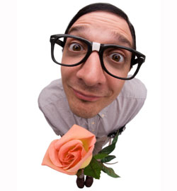 Geek, Love, Flowers, Glasses