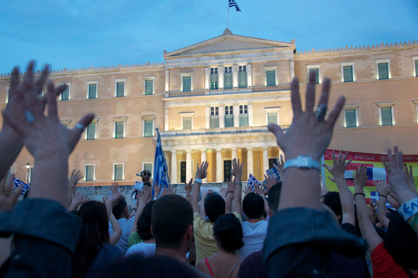 Protest and the Greek Parliament