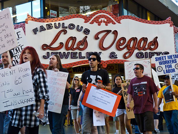 Occupy Las Vegas protest