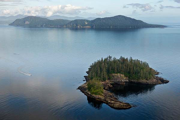 Arichika Island in the Juan Perez Sound