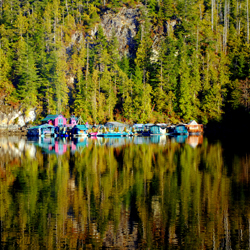Freedom Float Cover community in Clayoquot Sound