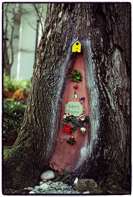 Nelson gnome door