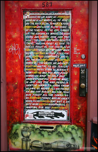 Downtown lyrics door