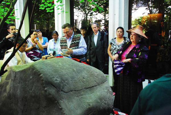 Petroglyph ceremony