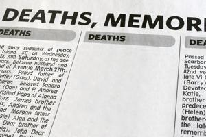 Generic obituary