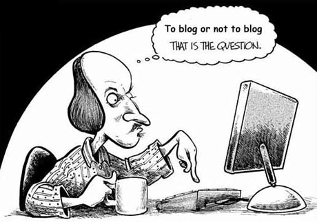 Shakespeare as a blogger