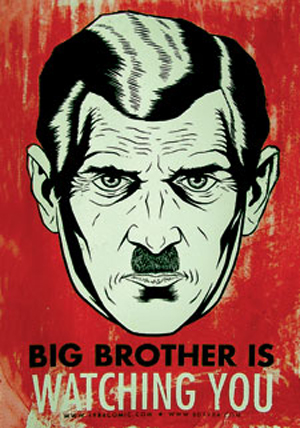 "Poster: ""Big Brother is Watching You"""