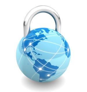 Globe as a padlock