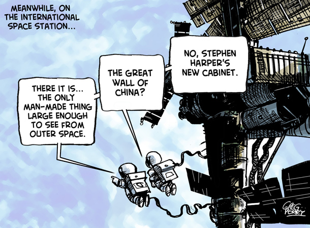 Cartoon about Harper's cabinet