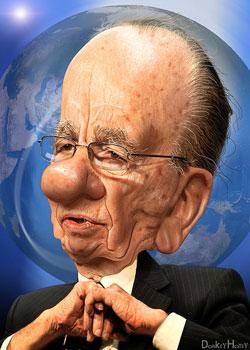 Rupert Murdoch caricature