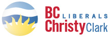 Christy Clark's BC Liberals logo