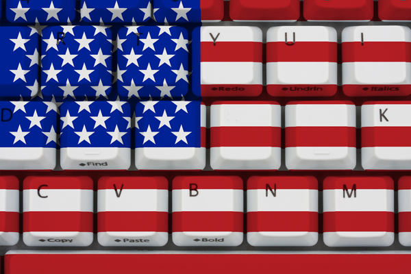 US flag keyboard