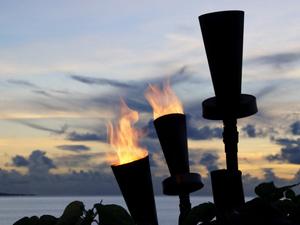 Fiji flames