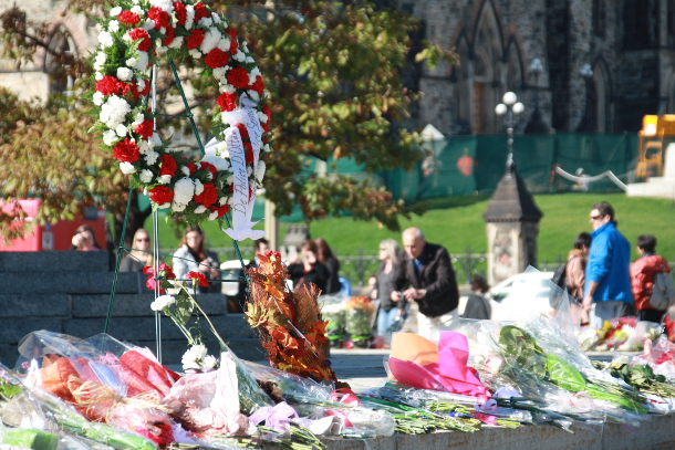 Tributes left for Cpl. Nathan Cirillo