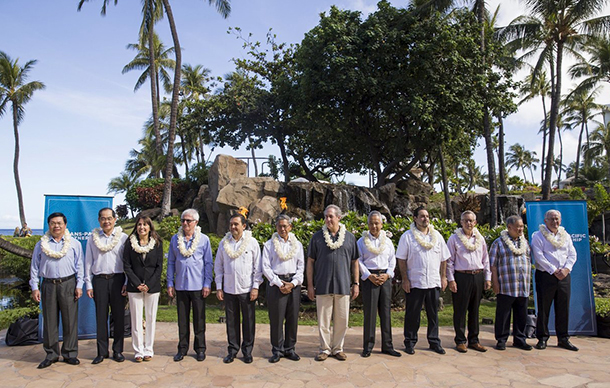 TPP ministers in Hawaii