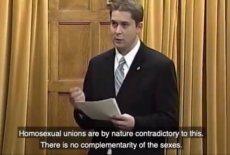 Young Scheer Was Even More Anti-Gay Marriage than Harper