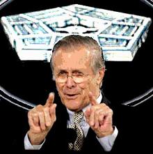 Donald Rumsfeld, Stockwell Day on list
