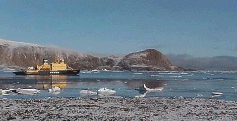 Ship in Arctic - Alexandra Fjord