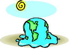 Melting earth illustration