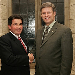 Gary Lunn and Stephen Harper