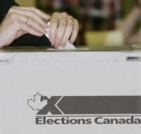 Election Canada voters box