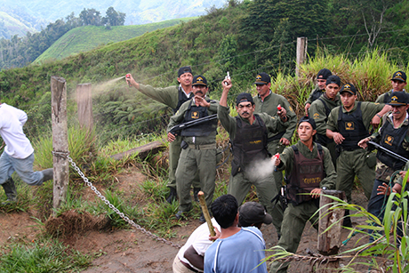 Armed security guards at Canadian mine in Ecuador