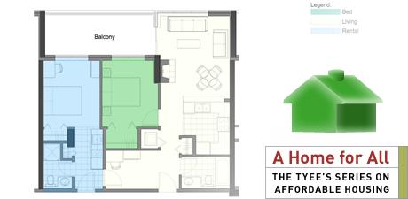 Floorplan, apartment, lock-off suite