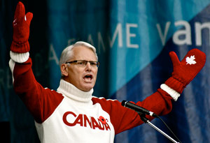 Gordon Campbell in Olympics gear