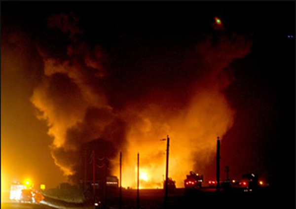Enbridge pipeline fire in Minnesota