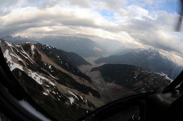Path of Meager Creek landslide