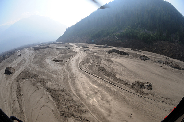 'Lunar landscape' after Meager Creek landslide
