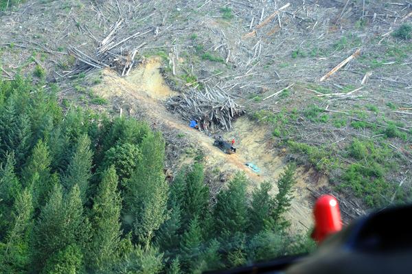 Stranded campers after Meager Creek landslide
