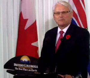 Gordon Campbell resigning