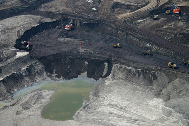 Tar sands excavation