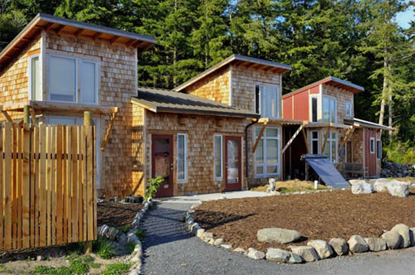 Green homes on Lopez Island