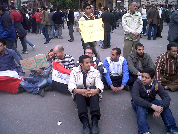 Young protestors in Egypt