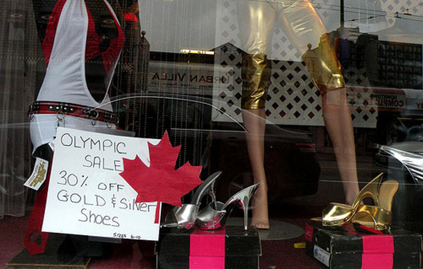 Olympic shop window