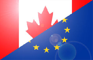 Canada and EU flags